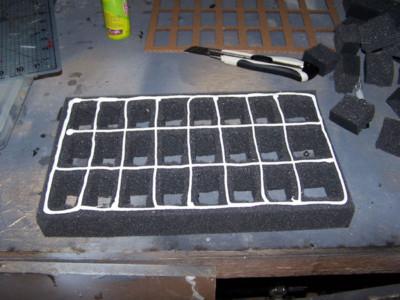Foam Tray: Glued Up