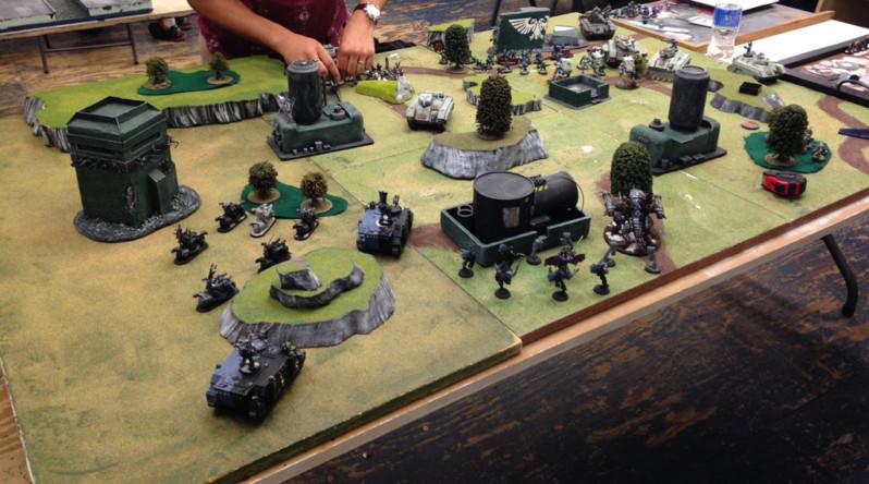 Chaos Space Marines vs Astra Militarum - Turn #1
