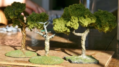 Finished Miniature Trees