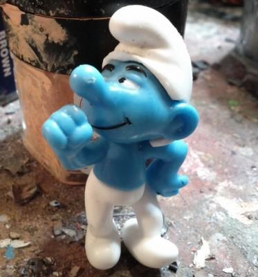 Smurf Keychain